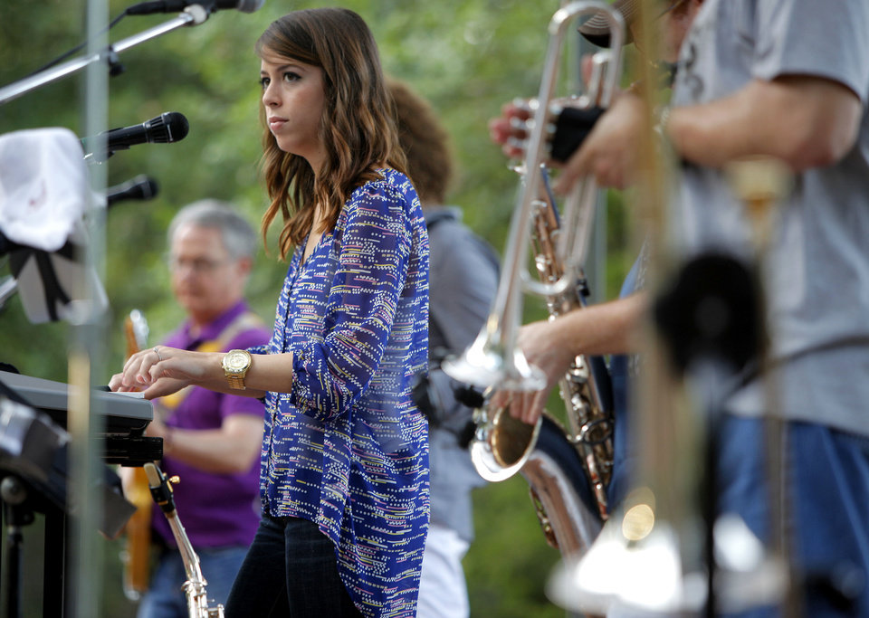 Photo - Amy Leming performs with Souled Out during the 2012 Edmond Summer Concert Series at E.C. Hafer Park in Edmond on Thursday.  BRYAN TERRY - THE OKLAHOMAN