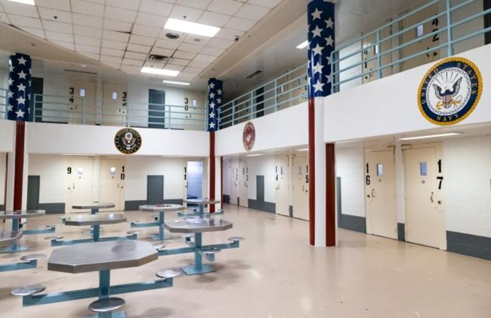 Photo -  The renovated inmate pod at the Oklahoma County Jail on June 2 in Oklahoma City that will address unique needs of current and former military booked into the facility.  [Chris Landsberger/The Oklahoman]