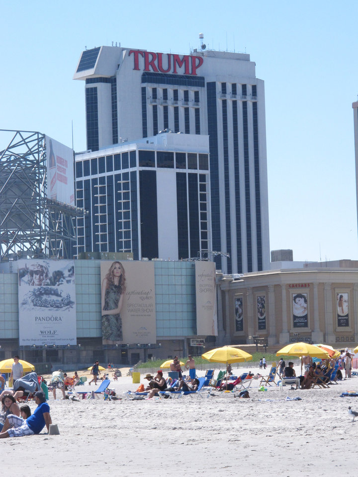 Photo - This June 16, 2014 photo shows Trump Plaza Hotel and Casino, one of three Atlantic City, N.J. casinos preparing to close down by mid-September. Possible uses for former casino buildings include office space, non-gambling hotels or even student housing, according to analysts and businesspeople.(AP Photo/Wayne Parry)