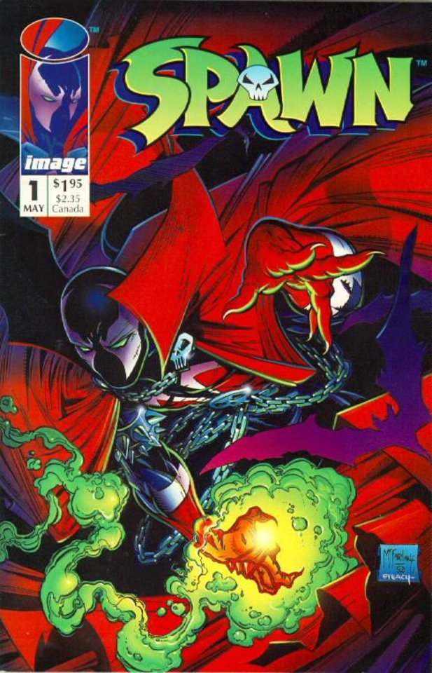 Photo -  Spawn #1 sold an estimated 1.7 million copies in 1992. [Image Comics]