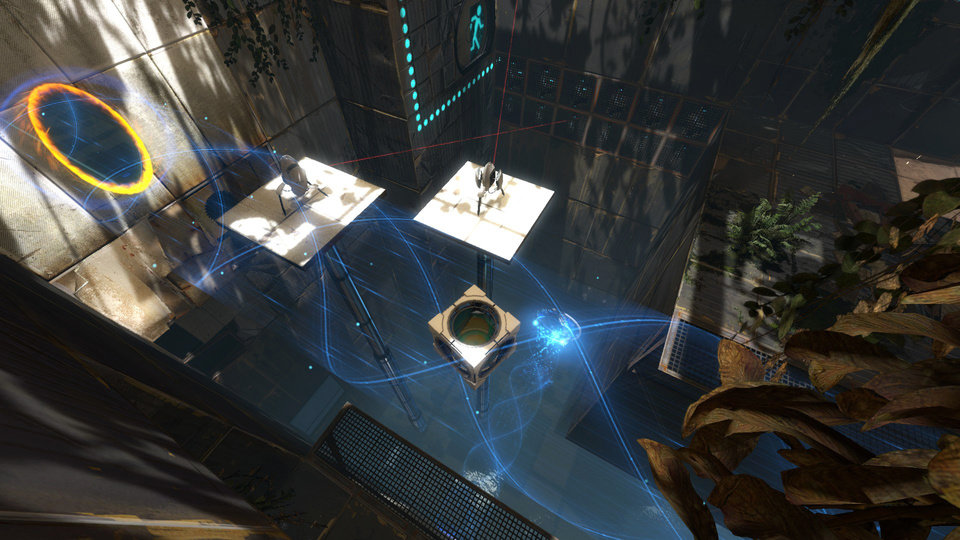 Photo - n this video game image released by Valve, a scene is shown from the teleporting puzzle game