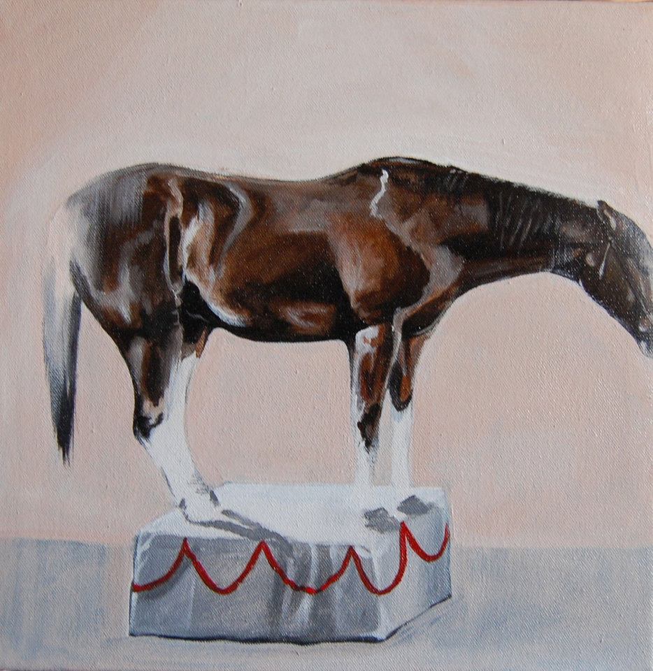 """On a Pedestal"" by Kristen Vails is featured in the new exhibit ""The Dog & Pony Show"" at In Your Eye Gallery. Photo provided. <strong></strong>"