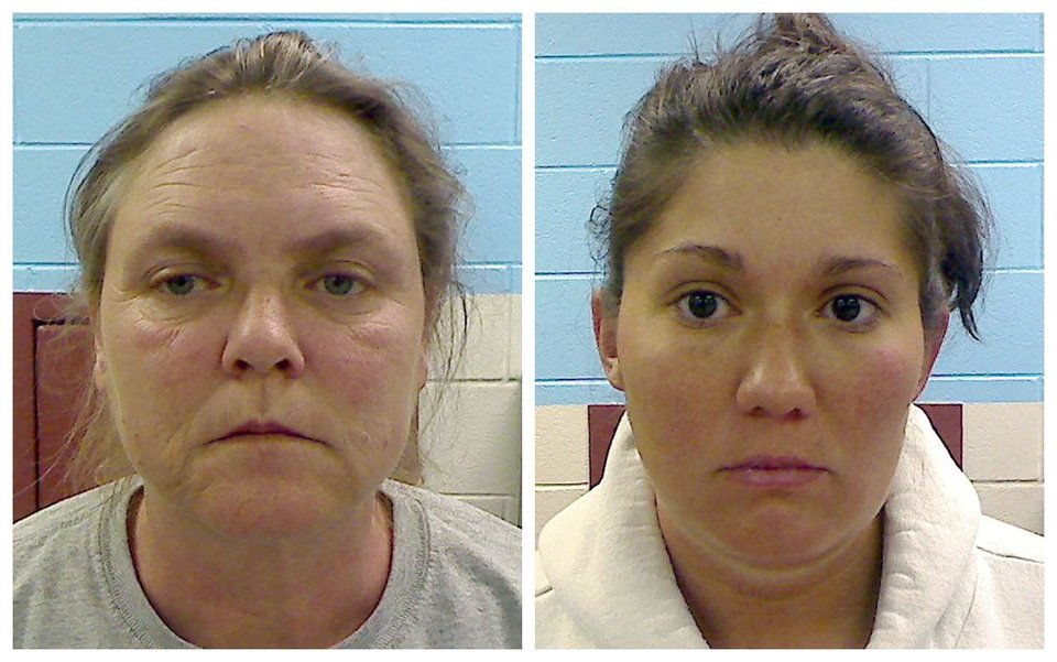 Photo -   FILE- This file combo image made from photos provided by the Etowah County Sheriff's Department shows Joyce Hardin Garrard, 46, left, and Jessica Mae Hardin, 27. Garrard and Hardin are charged with murder in the death of 9-year-old Savannah Hardin. Experts say the hundreds of messages posted online since Savannah died in February show the legal system has yet to catch up with the social media explosion. They say it highlights the difficulty of making sure witnesses and jurors aren't swayed by outside influences. (AP Photo/Etowah County Sheriff's Office, File)