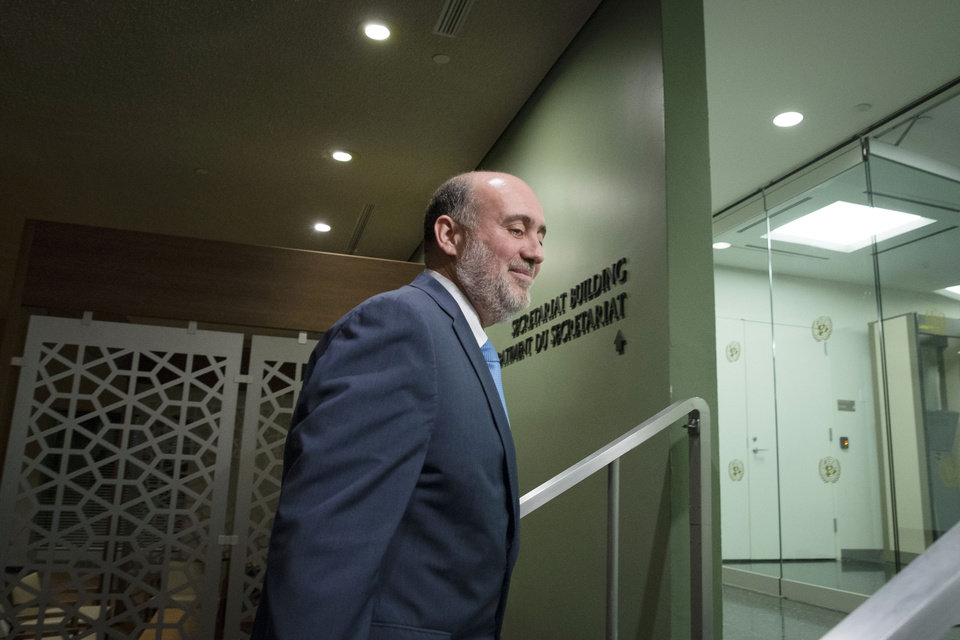 Photo - Israeli U.N. Ambassador Ron Prosor moves to leave following a meeting of the U.N. Security Council on the situation in Gaza at United Nations headquarters, Monday, July 28, 2014. The U.N. Security Council called for