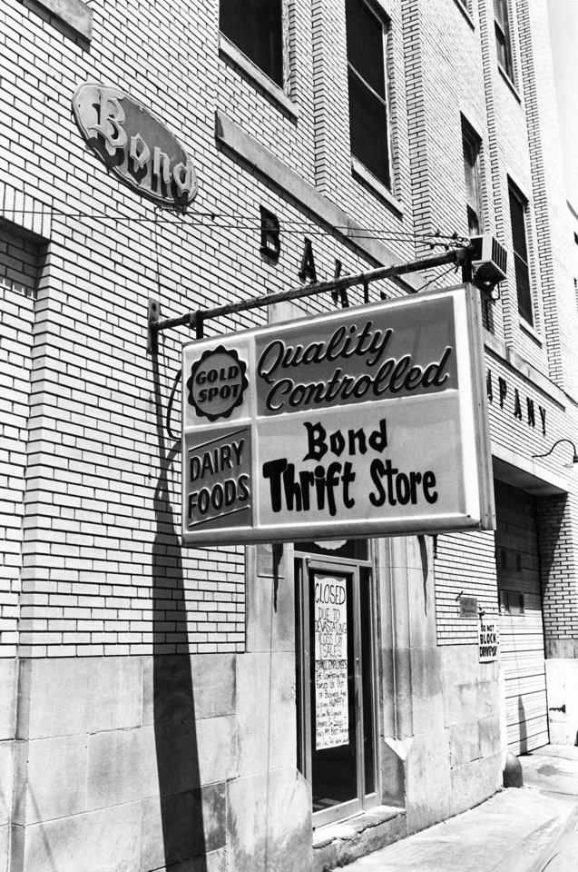 The Bond Bakery, as shown in 1978 when it closed. Photo by Doug Hoke, the oklahoman archive