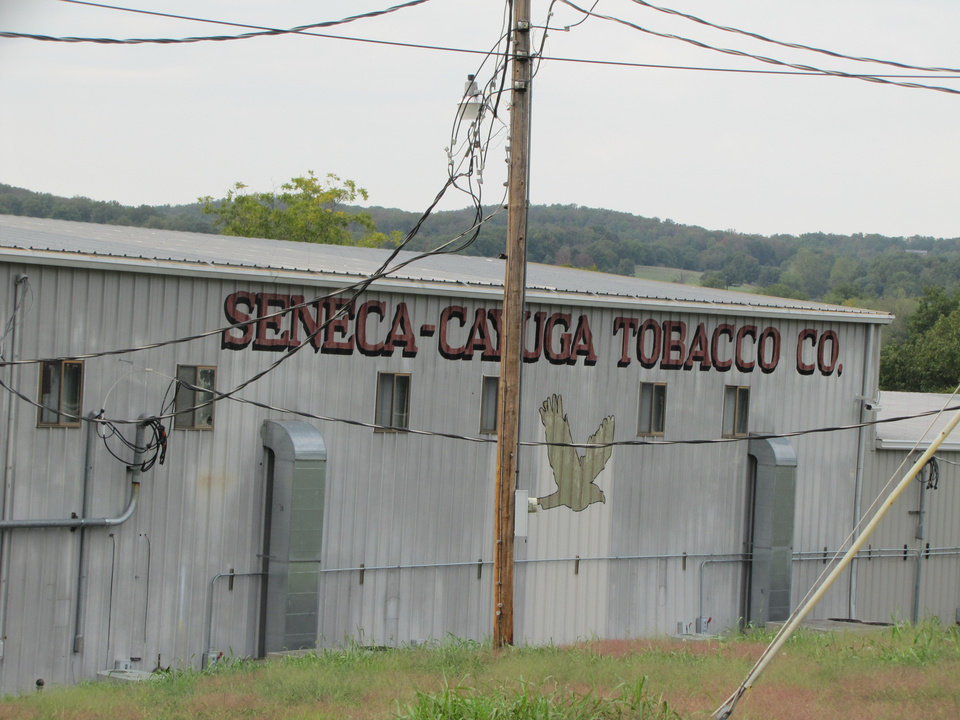 The Seneca-Cayuga Tobacco Co. manufactures Skydancer brand cigarettes from its factory in Grove.  Photo by Sheila Stogsdill,  for The Oklahoman