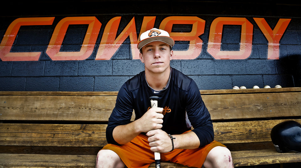 Oklahoma State freshman infielder Donnie Walton poses for a photo before the team leaves for its regional in Louisville on Tuesday, May 28, 2013 in Stillwater, Okla.  Photo by Chris Landsberger, The Oklahoman