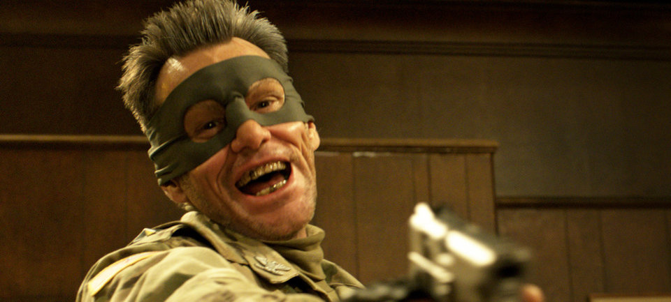 Photo - This film publicity image released by Universal Pictures shows actor Jim Carrey portraying  Colonel Stars and Stripes in a scene from