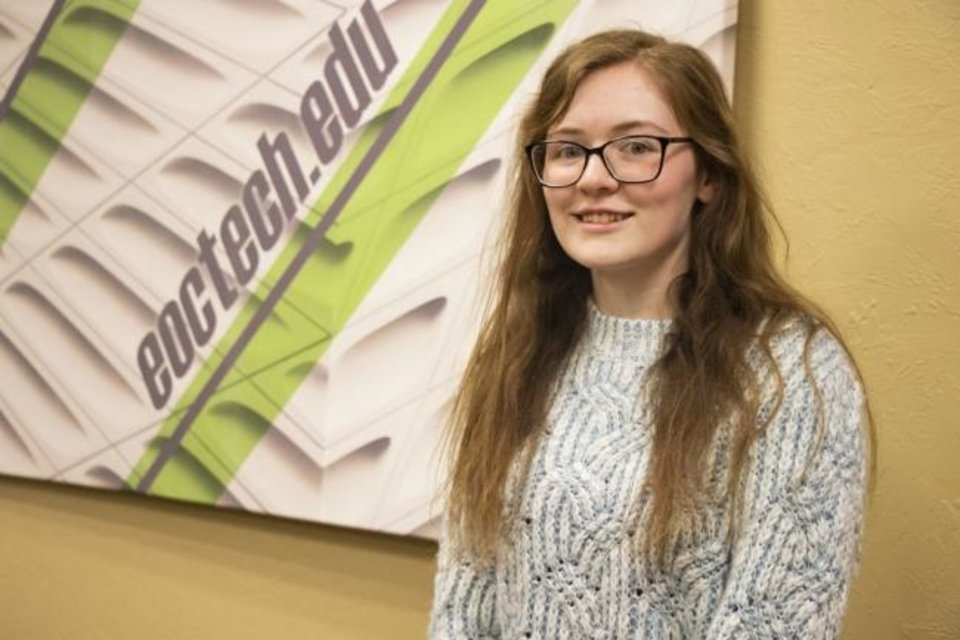 Photo -  Rachel Poling, a Choctaw High School senior and Pre-Engineering Program student at Eastern Oklahoma County Technology Center, was nominated for the Oklahoma Career Tech Equity Council's Breaking Tradition Award. The award recognizes students who are in a program that is considered nontraditional for their gender. [PHOTO PROVIDED]