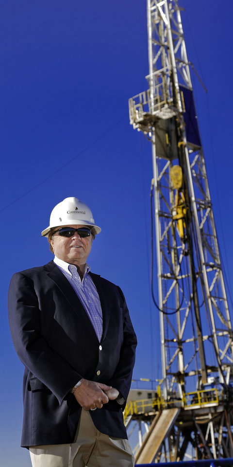 Photo - Oklahoma City oilman Harold Hamm has experience with several investment options. He has operated Continental Resources and Hiland Partners both as private and publcly traded companies  CHRIS LANDSBERGER