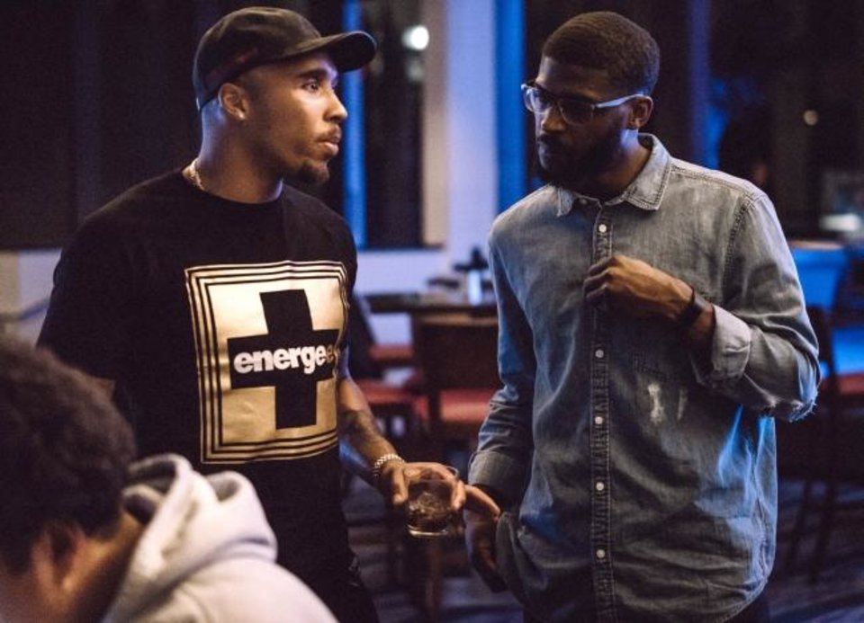 Photo -  Former Oklahoma State defensive back Andrew McGee, right, has launched a company geared towar equipping NFL players to be entrepreneurs and innovators. Steadman Bailey, left, who played wide receiver three years for the Rams, is iinfluence's first client. [PHOTO PROVIDED]