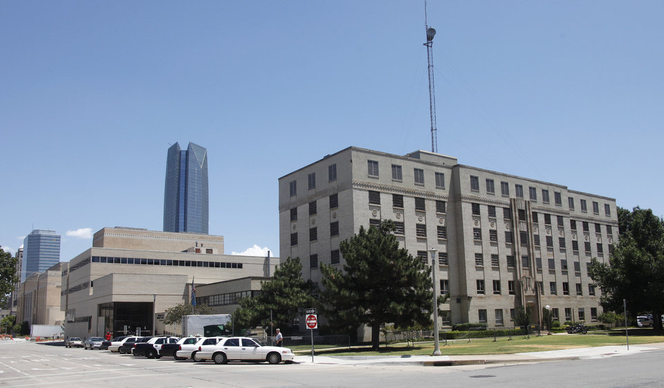 Older police headquarters building and jail in Oklahoma City Thursday, July 19, 2012. Photo by Doug Hoke, The Oklahoman.