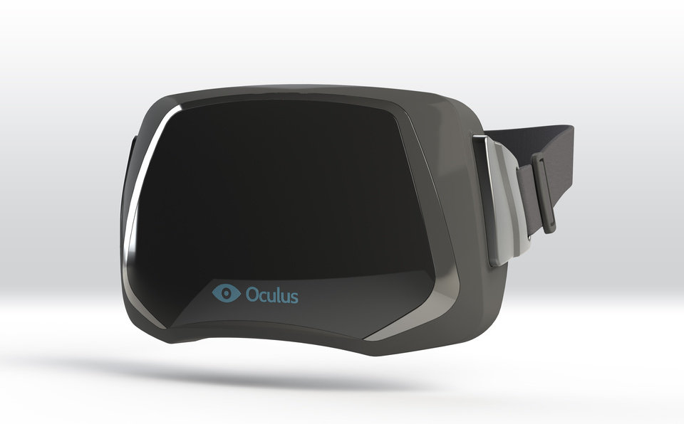This publicity image provided by Oculus VR shows a virtual reality headset. The virtual reality headset, the doodad that was supposed to seamlessly transport wearers to three-dimensional virtual worlds, has made a remarkable return at this year\'s Game Developers Conference. After banking $2.4 million from crowd funding and drumming up hype over the past year, Oculus VR captured the conference\'s attention this week with a virtual reality headset that\'s more like a pair of ski goggles than those bulky gaming helmets of the 1990s. (AP Photo/Oculus VR)