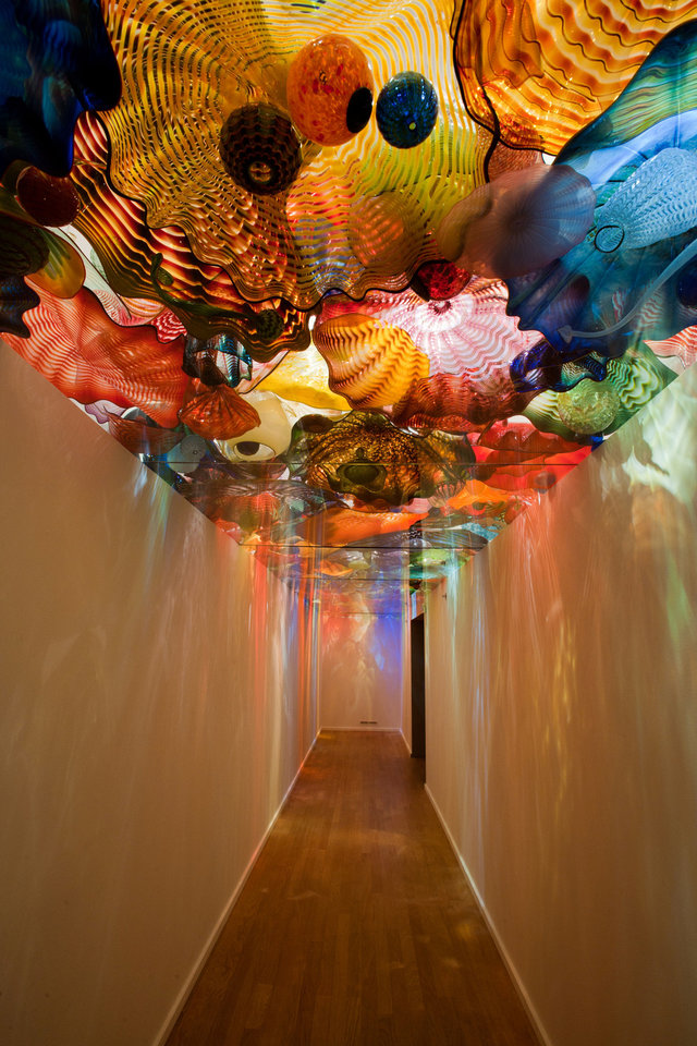 "The ""Oklahoma Persian Ceiling"" is a focal point of ?Illuminations: Rediscovering the Art of Dale Chihuly"" at the Oklahoma City Museum of Art. Photo provided by the Oklahoma City Museum of Art. <strong></strong>"