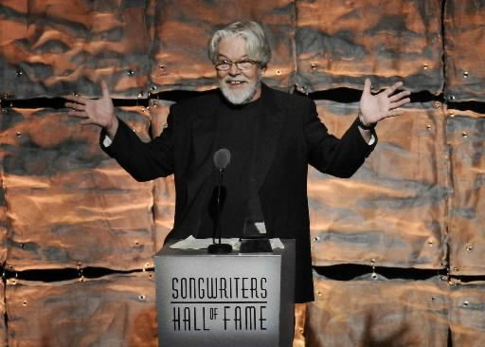 Inductee Bob Seger speaks at the 2012 Songwriters Hall of Fame induction and awards gala at the Marriott Marquis Hotel, Thursday June 14, 2012 in New York. (AP file)