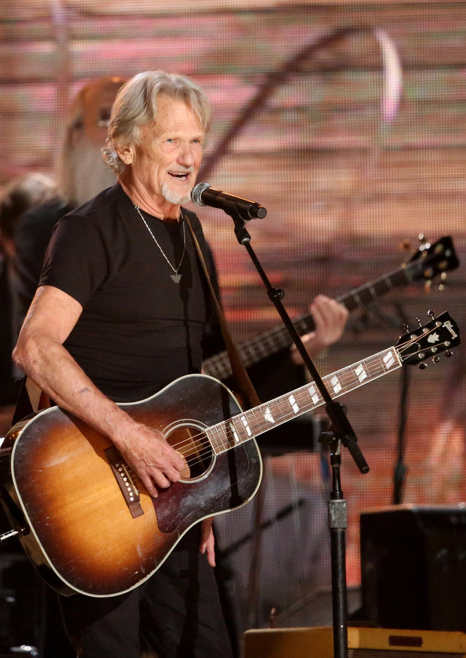 Photo - Kris Kristofferson performs at the 56th annual Grammy Awards at Staples Center on Sunday, Jan. 26, 2014, in Los Angeles. (Photo by Matt Sayles/Invision/AP)