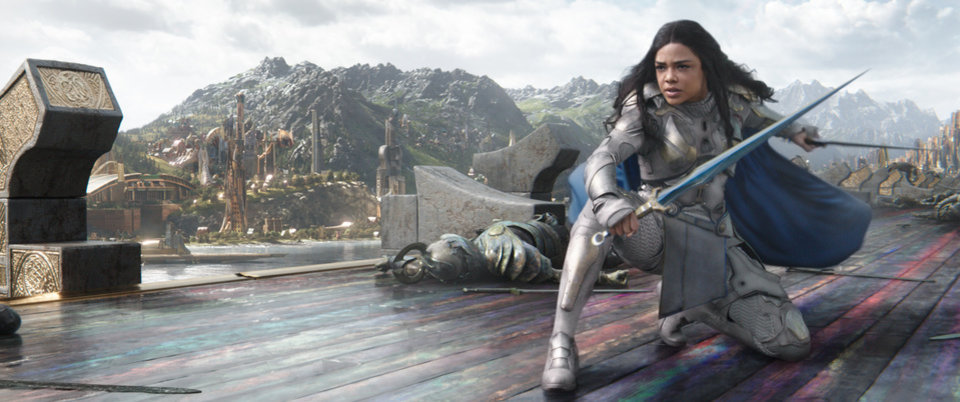 Photo - Valkyrie (Tessa Thompson) in a scene from Marvel Studios'