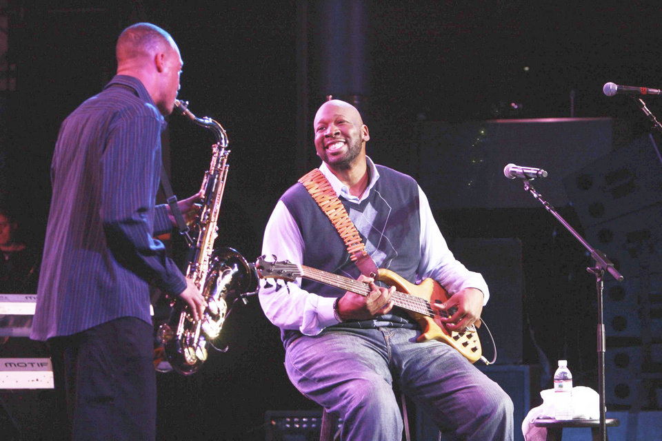 Photo - Wayman Tisdale, musician / former University of Oklahoma (OU) college basketball player / NBA player