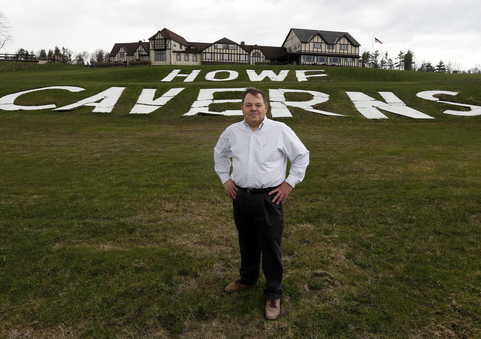Photo - Emil Galasso poses at Howe Caverns where he proposes to build a casino on Thursday, May 1, 2014, in Howes Cave, N.Y. A handful of local business owners are vying to build casinos in upstate New York, joining a bidding competition that includes gambling giants like Caesars and Genting. (AP Photo/Mike Groll)