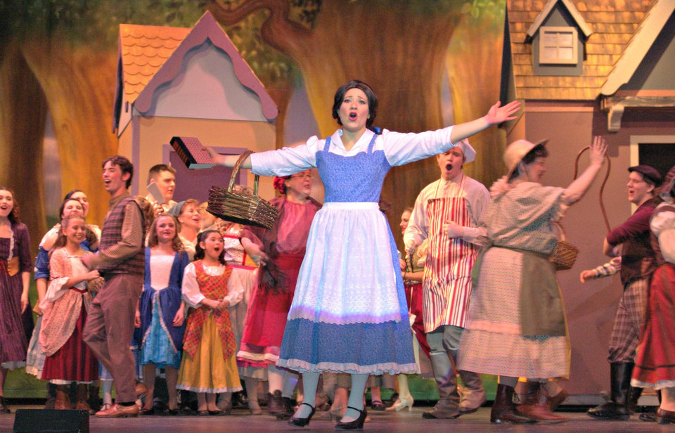 "Belle (Hope Chancey) sings the opening number ""Belle"" in Choctaw High School's production of ""Beauty and the Beast."" The show opens its run Thursday. <strong>PROVIDED - PROVIDED</strong>"