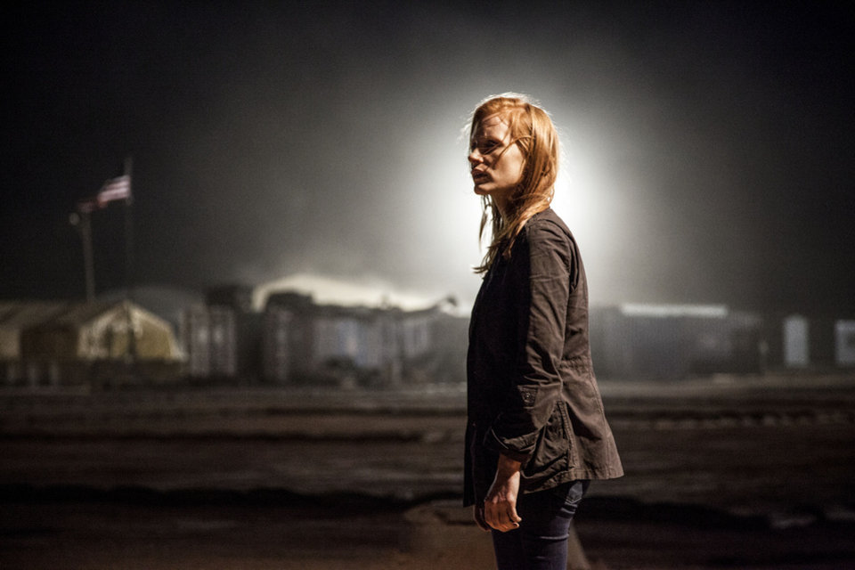 "Jessica Chastain as ""Maya"" in a scene from the fact-based thriller ""Zero Dark Thirty."" COLUMBIA PICTURES PHOTO <strong></strong>"