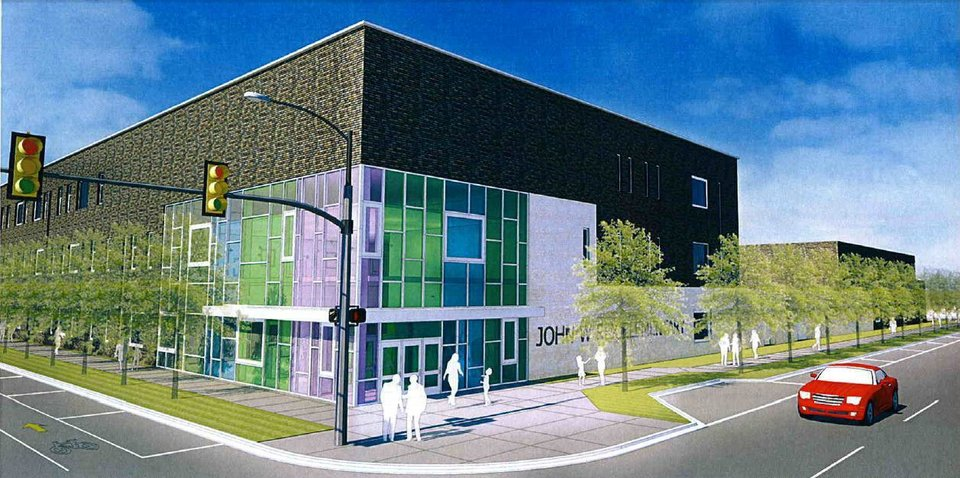 The original renderings for the John W. Rex Elementary school drew concerns from the Downtown Design Review Committee. Provided by TAP Architecture <strong></strong>