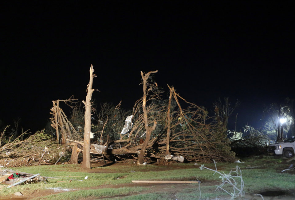 Damage is pictured at Steelman Estates trailer park in Bethel Acres Okla., following a deadly tornado, Sunday, May 19, 2013. Photo by Sarah Phipps, The Oklahoman