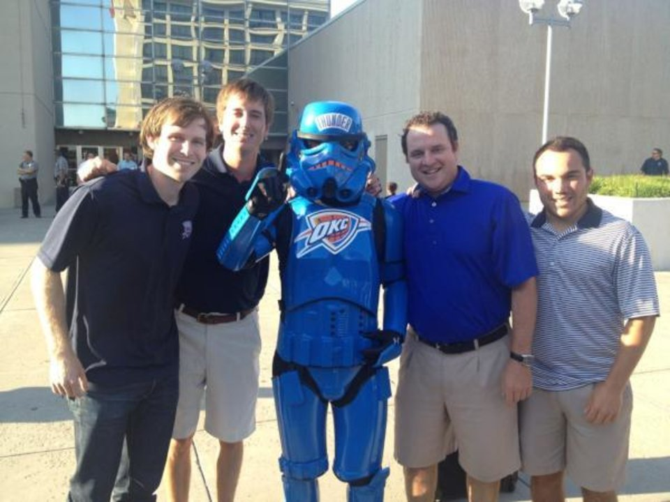A Thunder Stormtrooper in Oklahoma City. (via @mrjoshua_bryan)