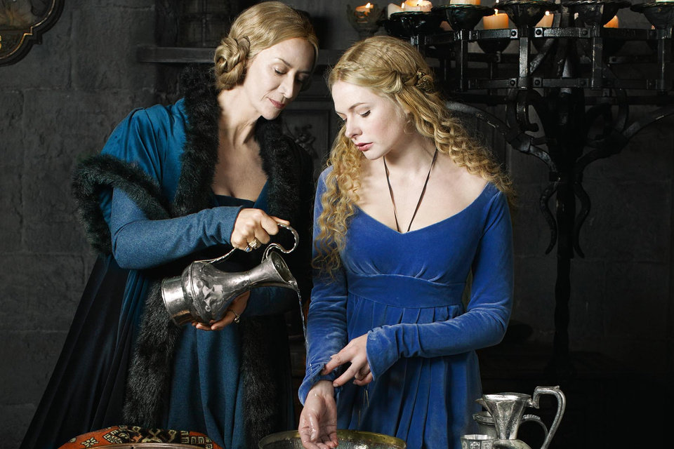 Photo - This publicity image released by Starz shows  Janet McTeer, left, and Rebecca Ferguson in