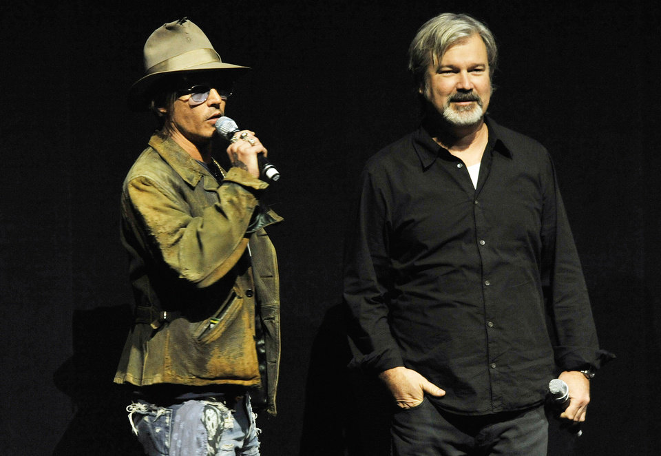 Photo - File - In this Wednesday, April 17, 2013 file photo, Johnny Depp, left, who plays Tonto in the upcoming film