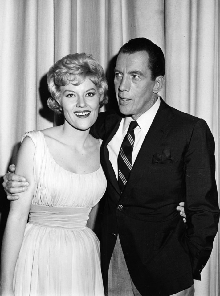 "Singer and Tulsa native Patti Page is shown in 1962 on stage with Ed Sullivan of ""The Ed Sullivan Show."" <strong>Unknown - The Daily Oklahoman</strong>"