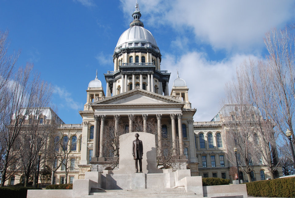 Photo -  The Illinois State Capitol, a combination Renaissance Revival and Empire Style, was completed in 1877, the sixth capitol in the state's history. The zinc dome is one of the tallest in our country. PHOTO PROVIDED BY NANCY LEONARD