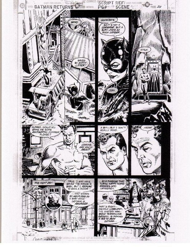 "Steve Erwin art from the ""Batman Returns"" comic adaptation. Warner Bros. <strong></strong>"