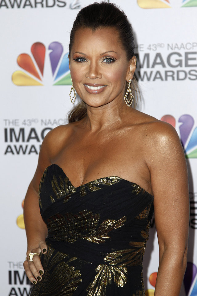 Photo -   FILE - This Feb. 17, 2012 file photo shows actress-singer Vanessa Williams arriving at the 43rd NAACP Image Awards in Los Angeles. On Friday, July 6, Williams will talk about her relationship with her mom, Helen, during one of a series of panel discussions at the Ernest N. Morial Convention Center about family, love and relationships during the Essence Music Festival running through Sunday in New Orleans. (AP Photo/Matt Sayles, file)