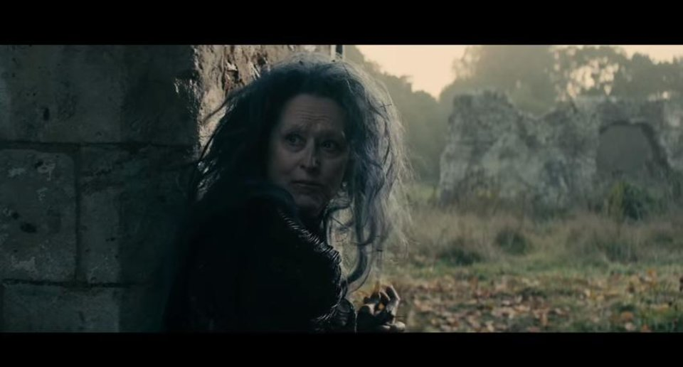 Photo -       Meryl Streep plays The Witch in Walt Disney's production of James Lapine's