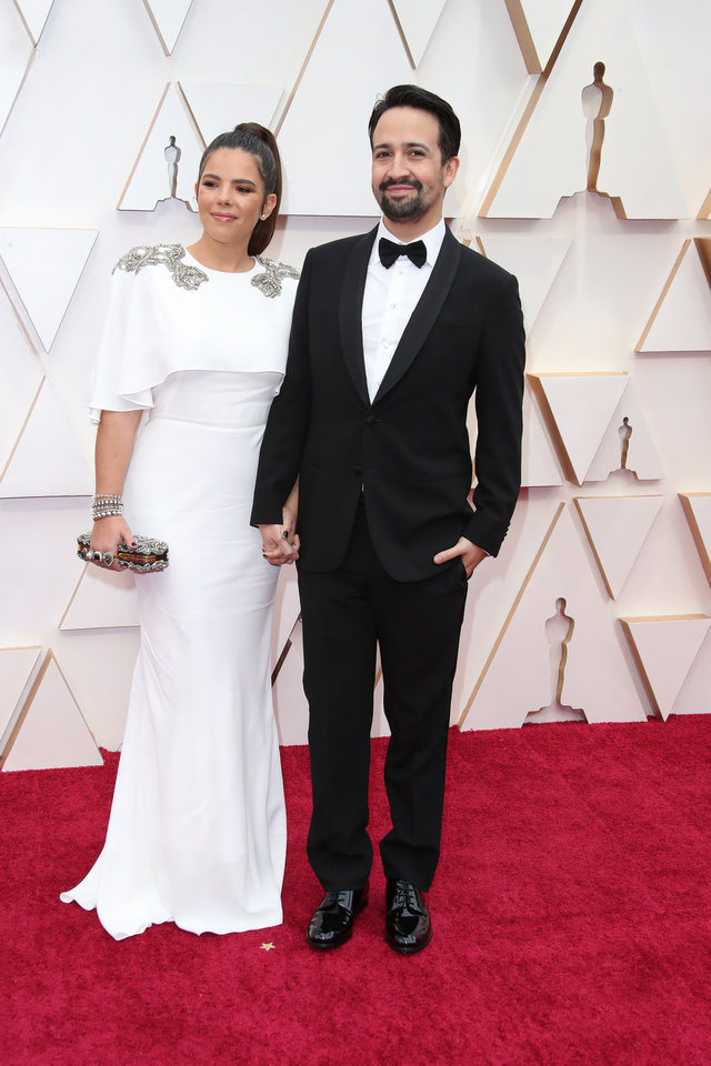 Photo - Feb 9, 2020; Los Angeles, CA, USA;  Vanessa Nadal, left and Lin-Manuel Miranda arrive at the 92nd Academy Awards at Dolby Theatre. Mandatory Credit: Dan MacMedan-USA TODAY