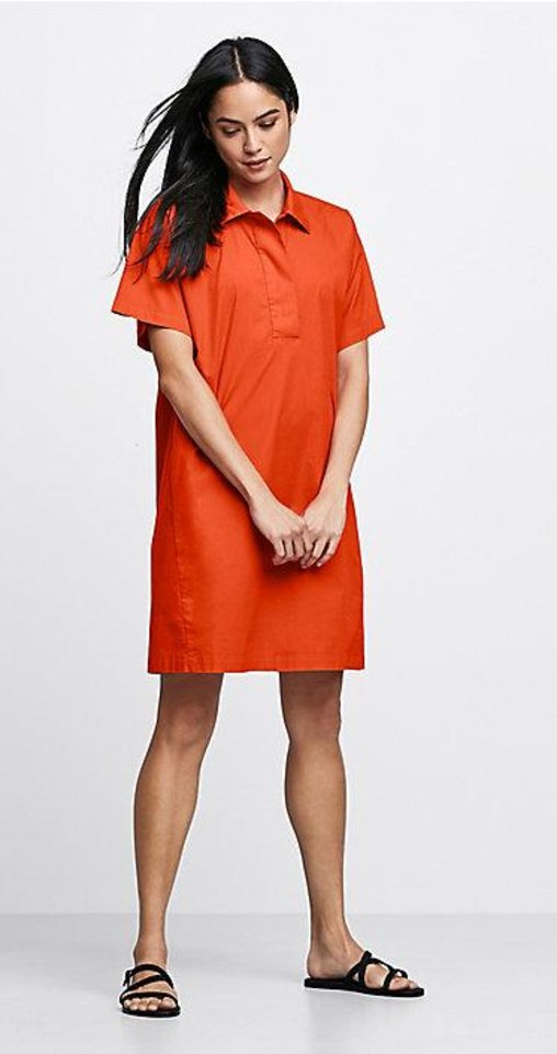 Photo - Eileen Fisher poplin shirt dress.