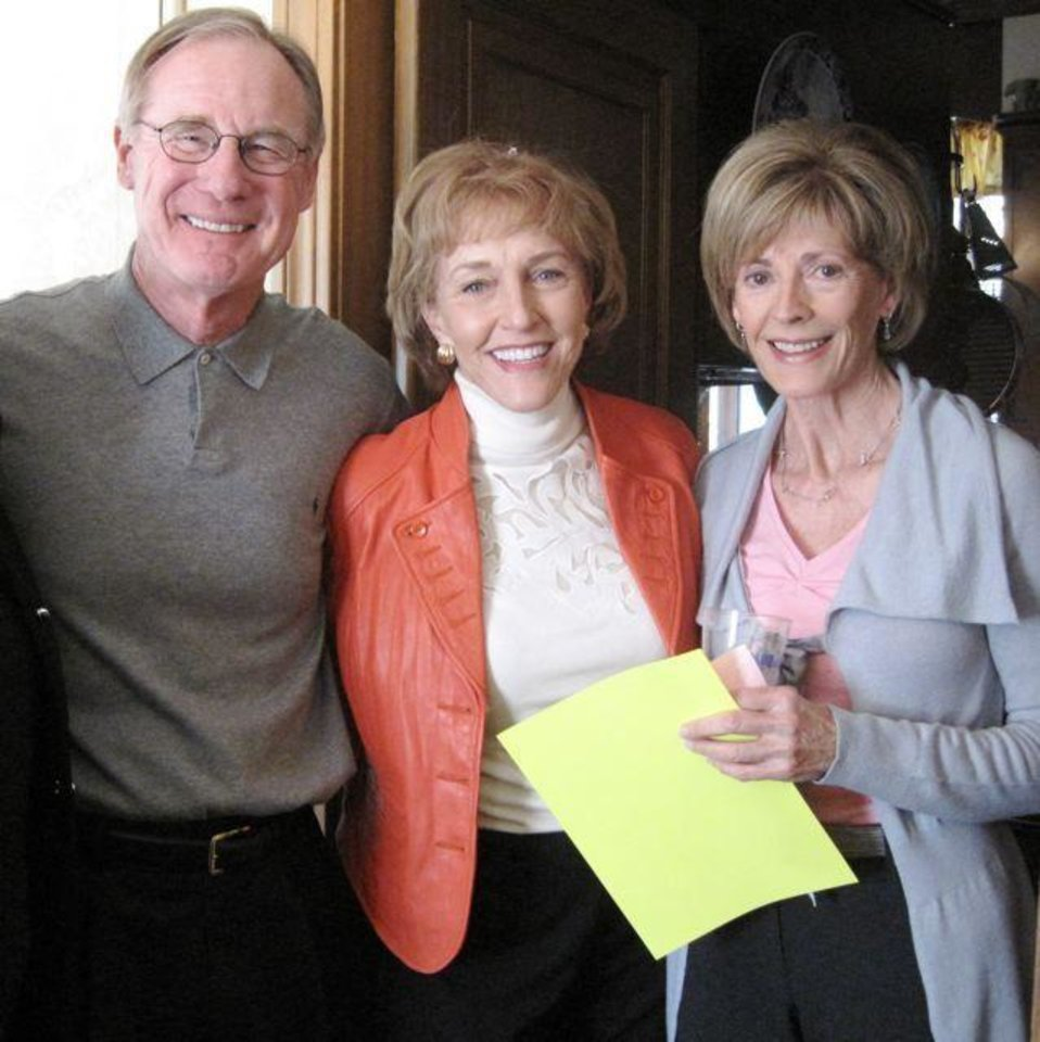 MEET JOANNA...Burns and Ann Hargis and Marilyn Balyeat were at the event. ( Photo by Helen Ford Wallace).