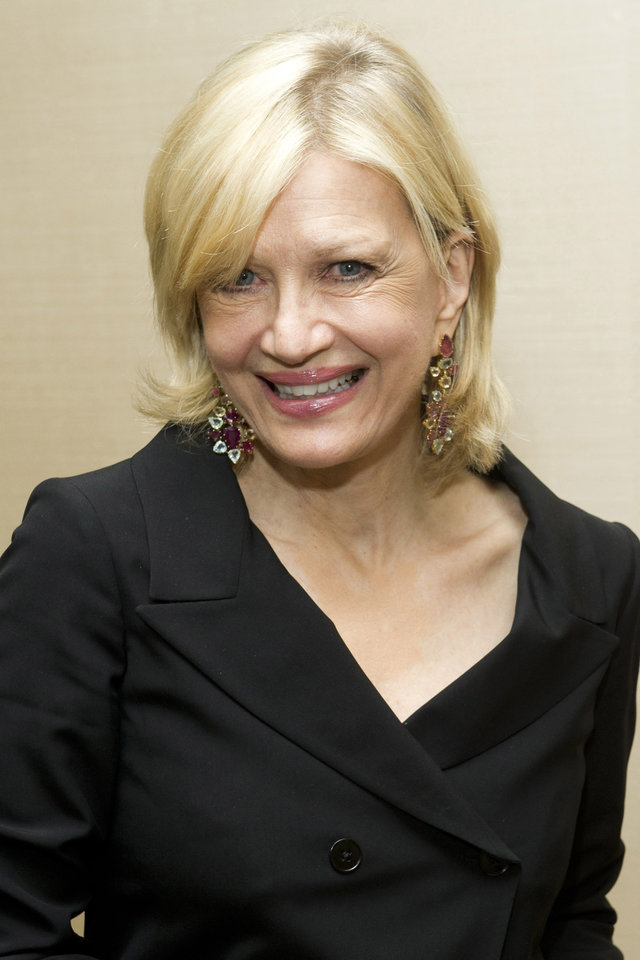 """Photo - In this March 24, 2012 photo, Diane Sawyer attends Aretha Franklin's seventieth birthday party in New York. Sawyer is stepping down as its evening news anchor, to be replaced by David Muir. The network said Sawyer will concentrate on interviews and specials. During her tenure, ABC's """"World News"""" was a steady second to Brian Williams at NBC, although the ABC broadcast has made gains among younger viewers. (AP Photo/Charles Sykes)"""