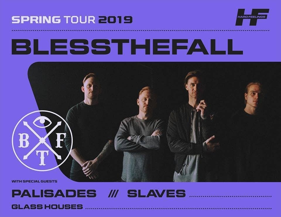 Photo - Arizona-based metalcore band Blessthefall plays tonight at 89th Street OKC. [Poster image provided]