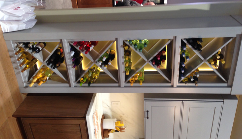 Photo -  This view shows a kitchen wine rack in a display at the International Builders Show. Photo provided by Linzy Nealis/Churchill-Brown    -  PROVIDED BY LINZY NEALIS/CHURCHILL-BROWN