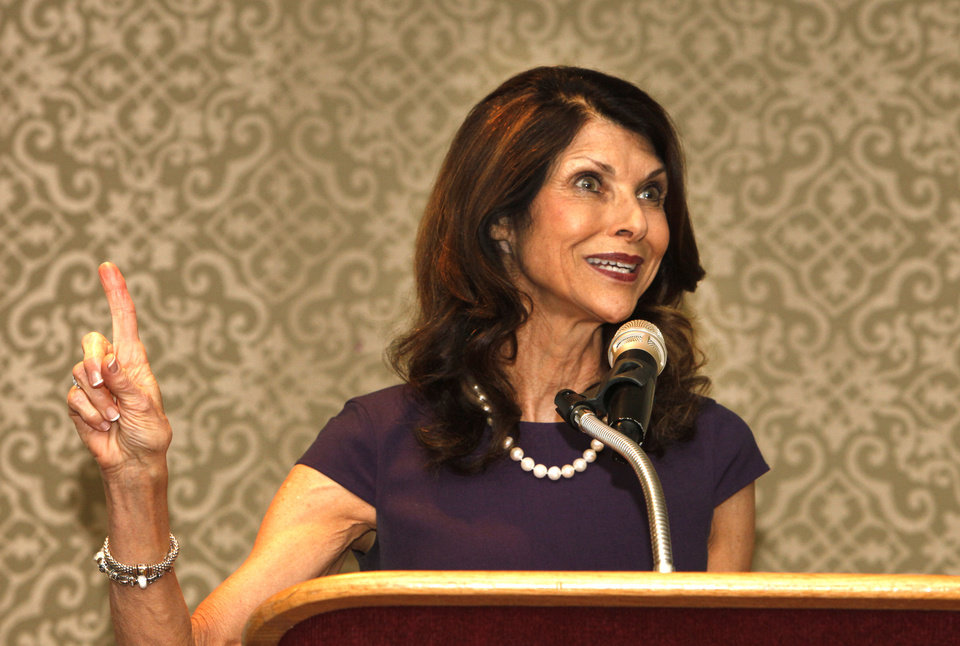 Pam Tebow, mother of NFL star Tim Tebow, shares her faith testimony during Thursday�s Deaconess Pregnancy and Adoption Services Angels of Destiny Luncheon at the Oklahoma City Golf & Country Club in Oklahoma City. Photo by David McDaniel, The Oklahoman