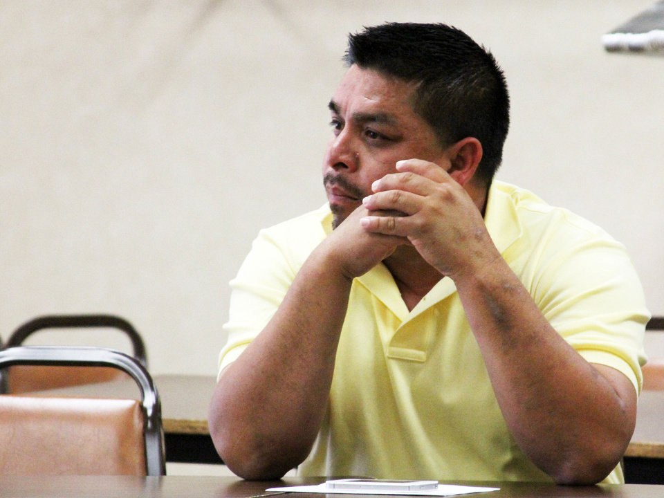 Abel Moreno was the first Mexican-American elected to the Hennessey town board. (Photo by Logan Alexander, Oklahoma Watch) <strong>Logan Alexander</strong>