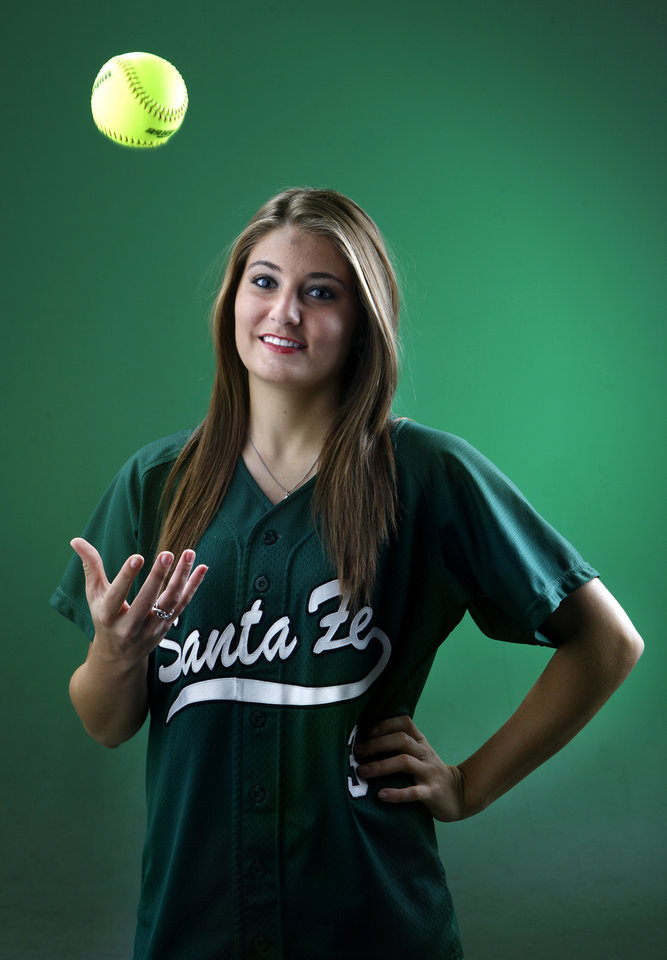 Edmond Santa Fe softball player Madison Martin poses for photo in the OPUBCO studios.,  Tuesday, Nov. 22, 2011.  Photo by Sarah Phipps, The Oklahoman