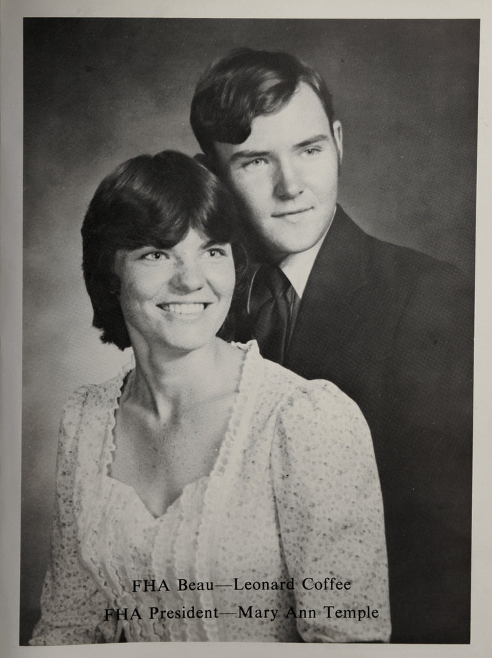 "Principal characters in the movie ""Footloose"" are  based on Oklahoma natives Mary Ann Temple-Lee and Leonard Coffee, shown in a high school yearbook photo.  Photo by Jim Beckel, The Oklahoman ORG XMIT: KOD"
