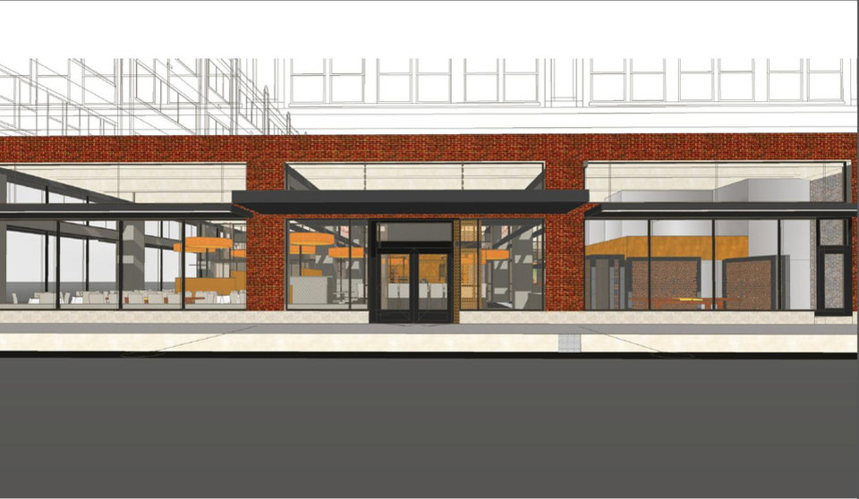 Photo -  The future entrance and view from the street of the Broadway 10 Chophouse is shown in this rendering. Drawing provided    Brian Fitzsimmons
