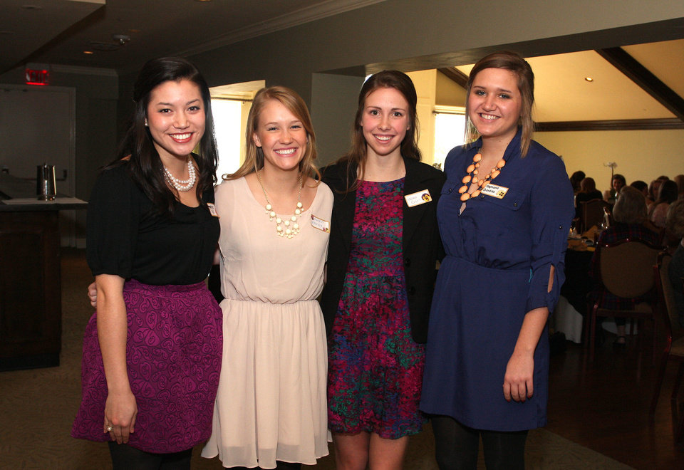 Audrey Gill, Megan Rooney, Emma Orth, Stephanie Giardina. PHOTO BY DAVID FAYTINGER, FOR THE OKLAHOMAN <strong></strong>
