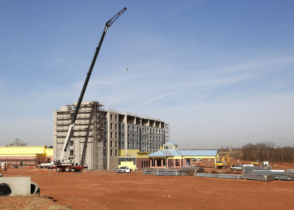 Photo -  Edmond is the home of a new $37 million full-service hotel and conference center near Covell Road and Interstate 35. A topping-out ceremony will be held at 11:30 a.m. Monday. [PHOTO BY PAUL HELLSTERN, THE OKLAHOMAN]