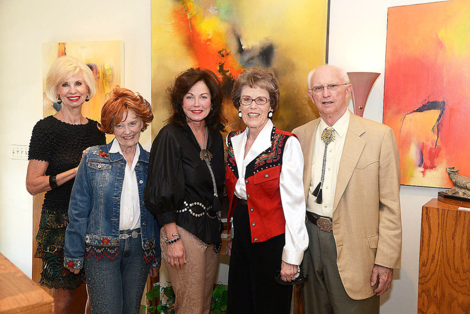 Photo - Joy Richardson, Bette Corner, Melanie Harding, Lois and Bill Joseph. Photo by David Faytinger, for The Oklahoman