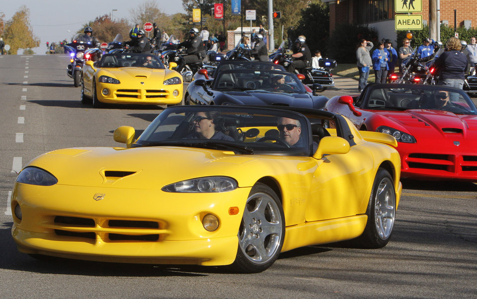Dodge Viper owners show off their cars during the University of Central Oklahoma's homecoming parade in Edmond, OK, Saturday, November 3, 2012,  By Paul Hellstern, The Oklahoman